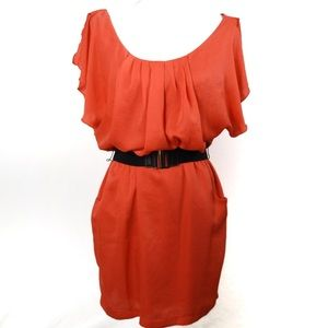 T548 City Studio Beautiful Coral Dress Size Med.